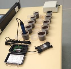 SCP Soil Water Content and Potential Meter and bench calibration